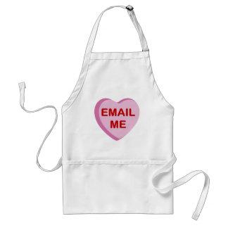 私に会話キャンデーのハートのギフトを電子メールで送って下さい スタンダードエプロン
