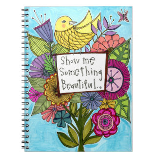 私に何かを美しいノート示して下さい ノートブック