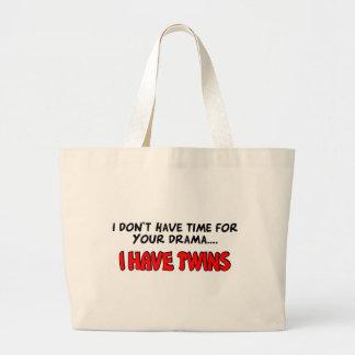私に双生児があります ラージトートバッグ