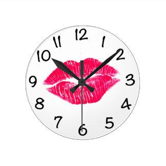 私に唇接吻して下さい ラウンド壁時計