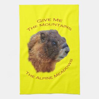 私に山の… Marmotを与えて下さい キッチンタオル