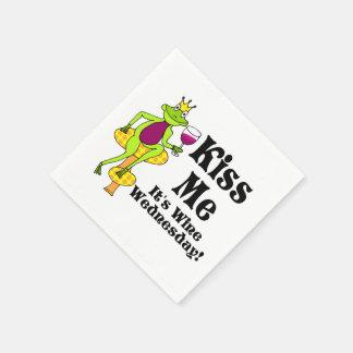 私に接吻して下さい!  それはワイン水曜日です! ワインの王子 スタンダードカクテルナプキン