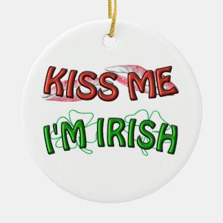 私に接吻して下さい-私はアイルランド語です セラミックオーナメント
