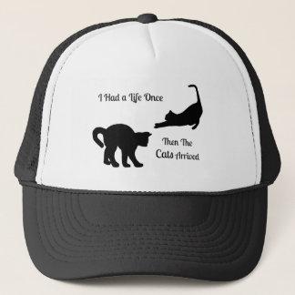 私に生命猫のトラック運転手の帽子が一度ありました キャップ