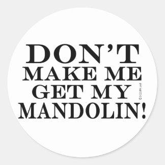 私に私のマンドリンを得させます ラウンドシール