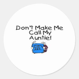 私に私の伯母さんを電話させます ラウンドシール
