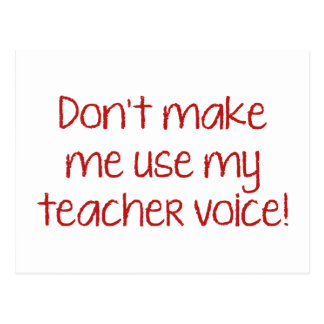 私に私の先生の声を使用させます! ポストカード