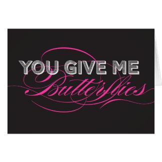 私に蝶をバレンタインデーカード与えます グリーティングカード