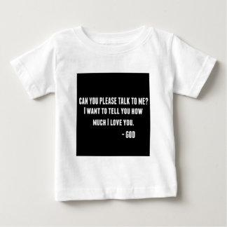 私に話すことができます ベビーTシャツ