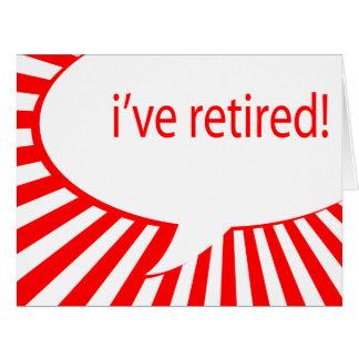 私に退職したがあります! (喜劇的な泡) カード