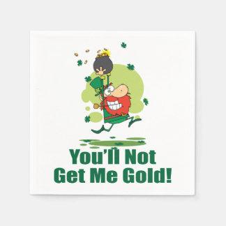 私に金ゴールドを得ません スタンダードカクテルナプキン