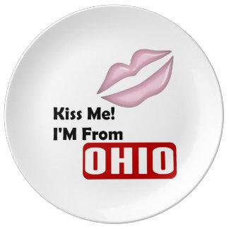 私に、私ありますオハイオ州から接吻して下さい 磁器プレート