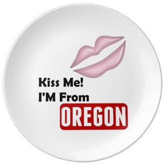 私に、私ありますオレゴンから接吻して下さい 磁器プレート
