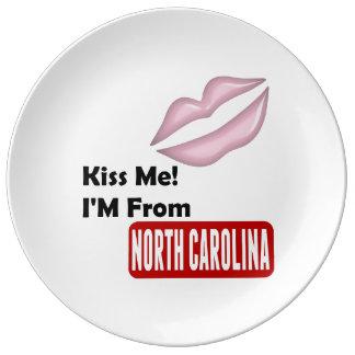 私に、私ありますノースカロライナから接吻して下さい 磁器プレート