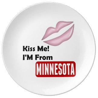 私に、私ありますミネソタから接吻して下さい 磁器プレート