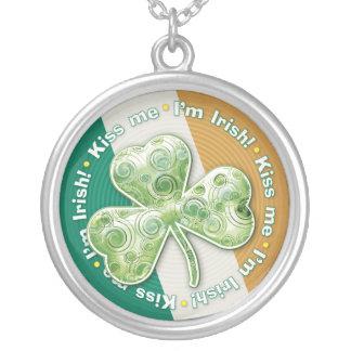 私に-私はアイルランド語です-ネックレス接吻して下さい シルバープレートネックレス
