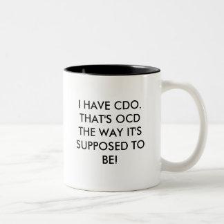 私にCDO.THATがですOCDあるために仮定した方法あります! ツートーンマグカップ