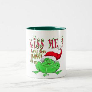 私にFroggyを得るために割り当てます接吻して下さい ツートーンマグカップ
