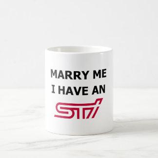 私にSTiのマグがある私と結婚して下さい コーヒーマグカップ