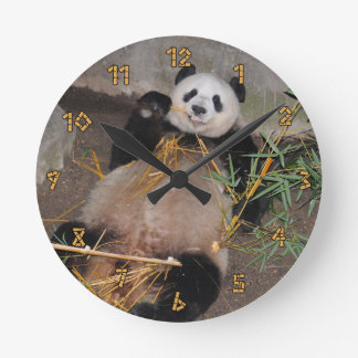 私のおなかのパンダくまを摩擦して下さい ラウンド壁時計