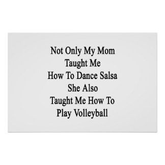 私のお母さんだけ私にサルサを踊る方法を彼女A教えました プリント