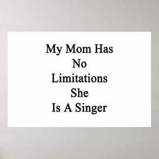 私のお母さんに彼女によってが歌手である限定がありません ポスター