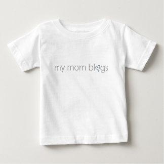 私のお母さんのブログ: 青いハート ベビーTシャツ