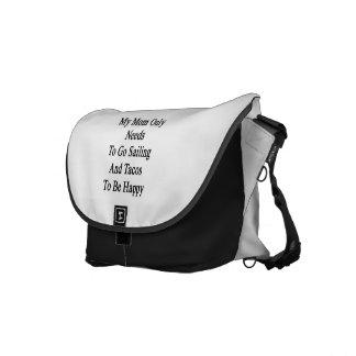私のお母さんのHaがあるために航海およびタコス行く必要性だけ メッセンジャーバッグ