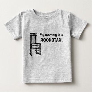 私のお母さんはロックスターです! ベビーTシャツ