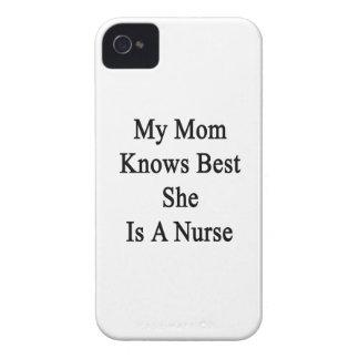 私のお母さんは彼女によってがナースであるベストを知っています Case-Mate iPhone 4 ケース