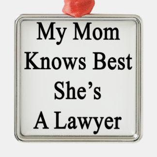 私のお母さんは彼女によってが弁護士であるベストを知っています メタルオーナメント
