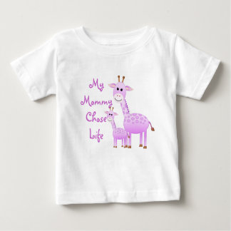 私のお母さんは生命を選びました ベビーTシャツ