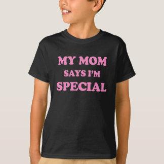 私のお母さんは私が特別なピンクのプリントであることを言います Tシャツ