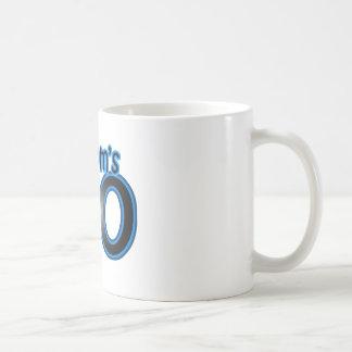 私のお母さんは40才及び青です コーヒーマグカップ