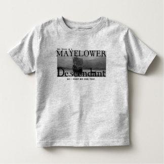 私のお母さんはMayflowerの子孫です トドラーTシャツ