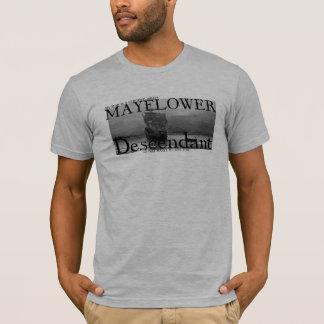 私のお母さんはMayflowerの証明された直接子孫です Tシャツ