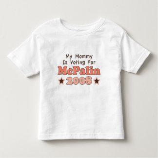 私のお母さんはMcPalinの2008年の幼児のティーのために投票しています トドラーTシャツ