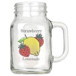 私のお気に入りのないちごのレモネード(名前入りな) メイソンジャー