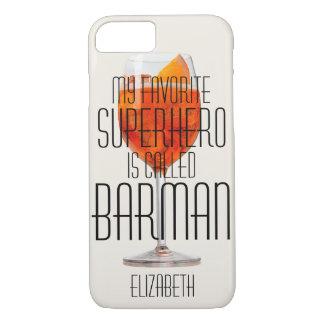 私のお気に入りのなスーパーヒーローはBarmanと電話されますCustom iPhone 8/7ケース