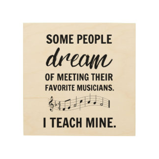 私のお気に入りのなミュージシャンの印 ウッドウォールアート