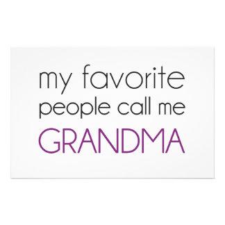 私のお気に入りのな人々は私を祖母と電話します 便箋