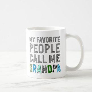 私のお気に入りのな人々は私を祖父と電話します コーヒーマグカップ