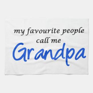 私のお気に入りのな人々は私を祖父と電話します 台所タオル
