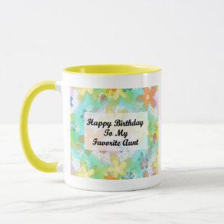 私のお気に入りのな叔母さんへのハッピーバースデー マグカップ