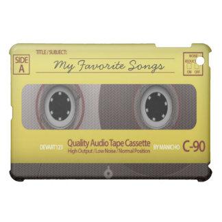 私のお気に入りのな歌のカセットテープの箱カバー iPad MINI カバー