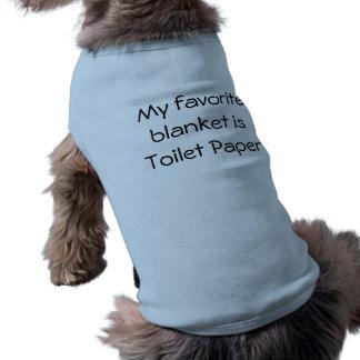私のお気に入りのな毛布はトイレットペーパーです ペット服