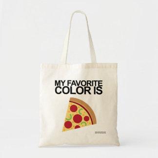 私のお気に入りのな色はピザトートバック-ピザemojiです トートバッグ