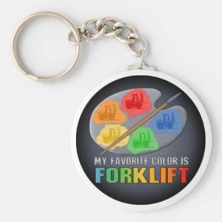 私のお気に入りのな色はフォークリフトのキーホルダーです キーホルダー