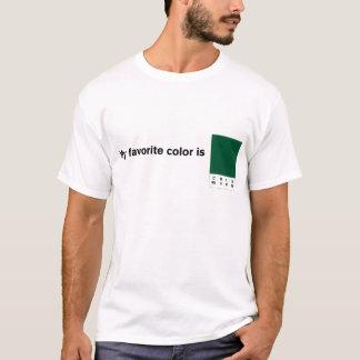 私のお気に入りのな色はCMYKの緑です Tシャツ