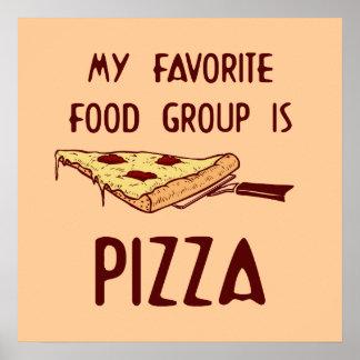 私のお気に入りのな食品群はピザポスターです プリント